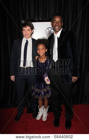 Benh Zeitlin, Quvenzhane Wallis, Dwight Henry at the 38th Annual Los Angeles Film Critics Association Awards, Intercontinental Hotel, Century City, CA 01-12-13