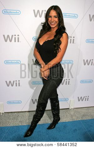 Mayra Veronica at the party celebrating the launch of Nintendo's Game Console Wii. Boulevard 3, Los Angeles, California. November 16, 2006.