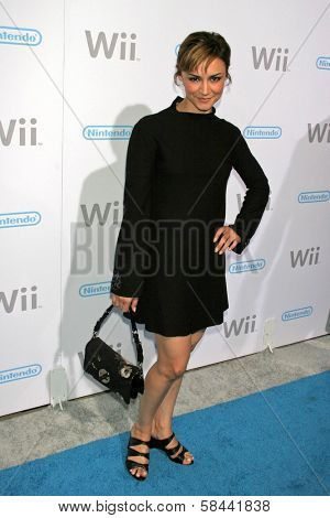 Samarie Armstrong at the party celebrating the launch of Nintendo's Game Console Wii. Boulevard 3, Los Angeles, California. November 16, 2006.