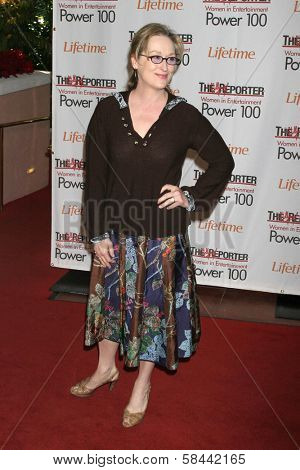 LOS ANGELES - DECEMBER 05: Meryl Streep at the 15th Annual The Hollywood Reporter's 2006 Women In Entertainment Power 100 at Beverly Hills Hotel December 05, 2006 in Beverly Hills, CA.