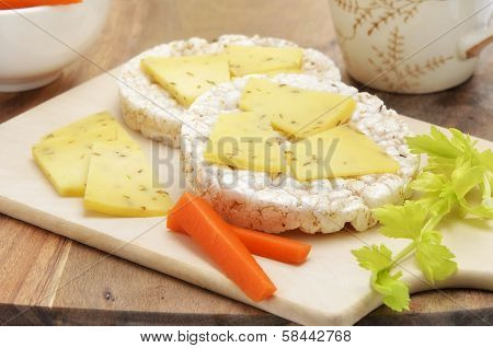 Rice Cake Cheese Snack