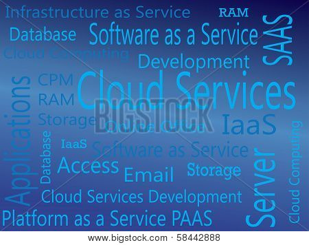 Cloud Services. IAAS, PAAS, SAAS