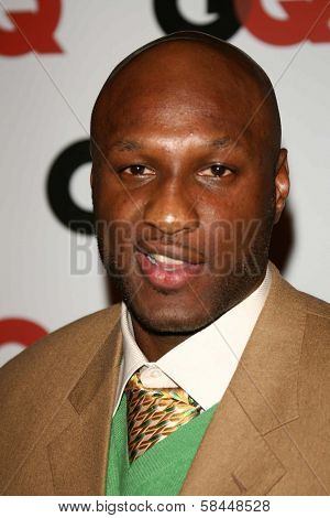 LOS ANGELES - NOVEMBER 29: Lamar Odom at the GQ Man of the Year Awards at Sunset Tower Hotel November 29, 2006 in Los Angeles, CA.