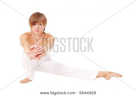 Attractive Woman Doing Stretching