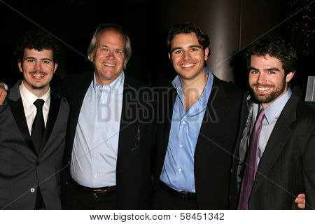 LOS ANGELES - NOVEMBER 15: Willie Ebersol, Dick Ebersol, Charlie Ebersol and Kip Kroeger at the Los Angeles Premiere of
