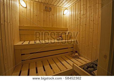 Private Sauna In A Health Spa