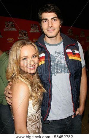 Hayden Panettiere and Brandon Routh at Spike TV's 2006 Video Game Awards. The Galen Center, Los Angeles, California. December 8, 2006.
