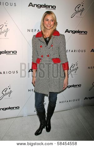 HOLLYWOOD - DECEMBER 11: Stacy Keibler at the Nefarious Fine Jewelry Spring 2007 Collection and Holiday Party on December 11, 2006 at Shag, Hollywood, CA.