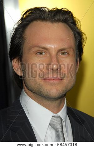 HOLLYWOOD - DECEMBER 13: Christian Slater at the world premiere of