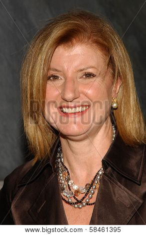 Arianna Huffington at the Billy Wilder Theater Opening Tribute. Hammer Museum, Westwood, California. December 3, 2006.