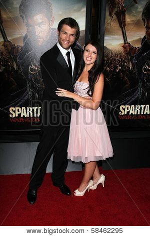 Liam McIntyre, Erin Hasan at the