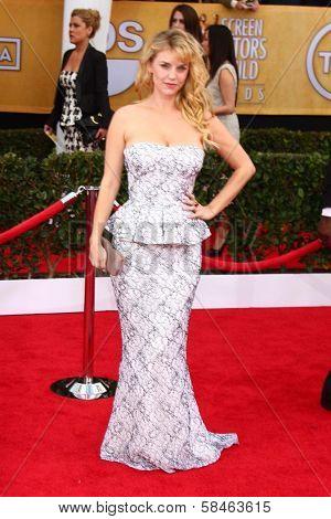 Kelli Garner at the 19th Annual Screen Actors Guild Awards Arrivals, Shrine Auditorium, Los Angeles, CA 01-27-13