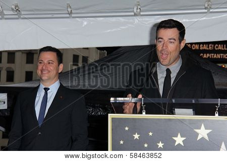 Jimmy Kimmel, Carson Daly at Jimmy Kimmel's induction into the Hollywood Walk of Fame, Hollywood, CA 01-25-13