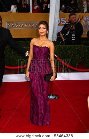 Sarah Hyland at the 19th Annual Screen Actors Guild Awards Arrivals, Shrine Auditorium, Los Angeles, CA 01-27-13