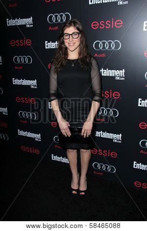 Mayim Bialik at the Entertainment Weekly Pre-SAG Party, Chateau Marmont, West Hollywood, CA 01-26-13