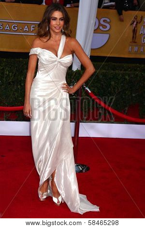 Sofia Vergara at the 19th Annual Screen Actors Guild Awards Arrivals, Shrine Auditorium, Los Angeles, CA 01-27-13
