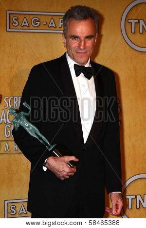 Daniel Day-Lewis at the 19th Annual Screen Actors Guild Awards Press Room, Shrine Auditorium, Los Angeles, CA 01-27-13