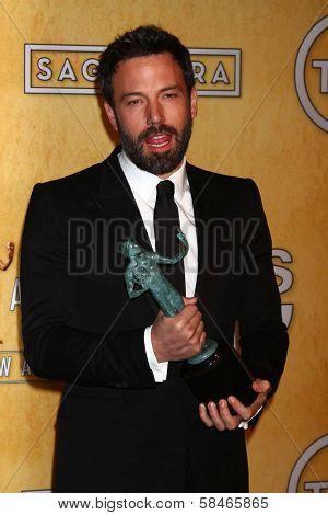 Ben Affleck at the 19th Annual Screen Actors Guild Awards Press Room, Shrine Auditorium, Los Angeles, CA 01-27-13