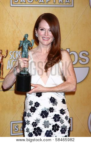Julianne Moore at the 19th Annual Screen Actors Guild Awards Press Room, Shrine Auditorium, Los Angeles, CA 01-27-13