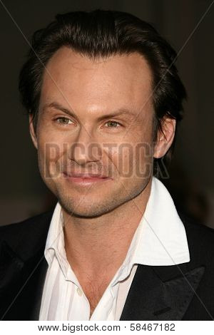 LOS ANGELES - NOVEMBER 21: Christian Slater at the 34th Annual American Music Awards at Shrine Auditorium November 21, 2006 in Los Angeles, CA