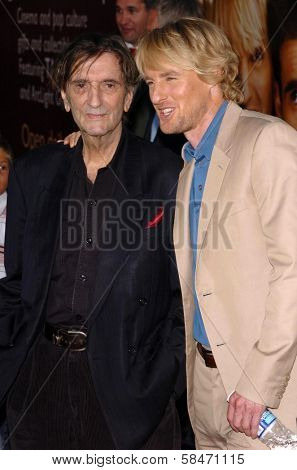 HOLLYWOOD - JULY 10: Harry Dean Stanton and Owen Wilson at the premiere of