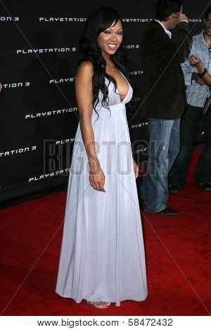 LOS ANGELES - OCTOBER 08: Megan Good at the Playstation 3 Launch Party October 08, 2006 in 9900 Wilshire Blvd, Beverly Hills, CA.