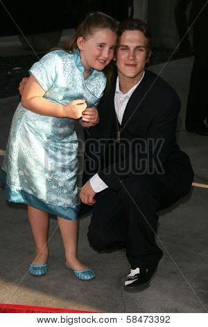 HOLLYWOOD - JULY 11: Harley Quinn Smith and Jason Mewes at the premiere of