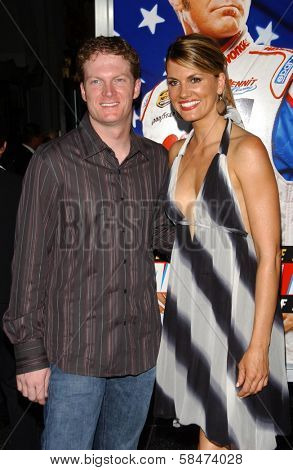 HOLLYWOOD - JULY 26: Dale Earnhardt Jr. and Courtney Hansen at the Premiere Of