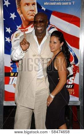 HOLLYWOOD - JULY 26: Michael Clarke Duncan and friend at the Premiere Of