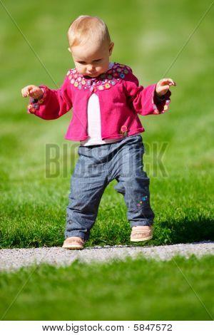 Baby Girl Walking