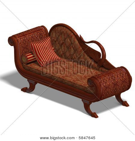 Very Comfortable Sofa From Biedermeier Time