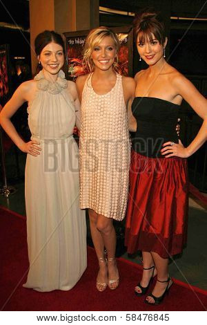 Michelle Trachtenberg with Katie Cassidy and Mary Elizabeth Winstead at the Los Angeles Premiere of