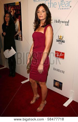 Emily Blunt at the Hollywood Life Magazine's Breakthrough of the Year Awards. Music Box, Hollywood, California. December 10, 2006.