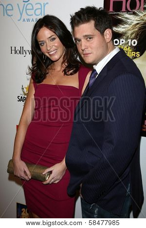 Emily Blunt and Michael Buble at the Hollywood Life Magazine's Breakthrough of the Year Awards. Music Box, Hollywood, California. December 10, 2006.