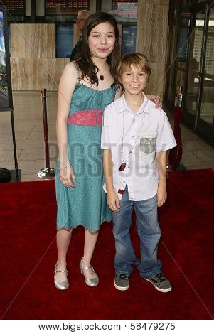 HOLLYWOOD - JULY 30: Miranda Cosgrove and Paul Butcher at the World Premiere of