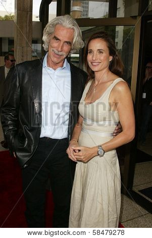 HOLLYWOOD - JULY 30: Sam Elliott and Andie MacDowell at the World Premiere of