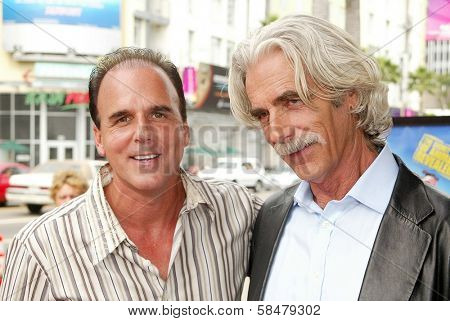 HOLLYWOOD - JULY 30: Steve Oedekerk and Sam Elliott at the World Premiere of