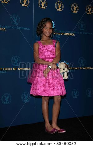 Quvenzhane Wallis at the 65th Annual Directors Guild Of America Awards Press Room, Dolby Theater, Hollywood, CA 02-02-13