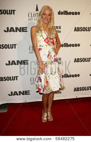 BEVERLY HILLS - JULY 20: Simona Stratton at Jane Magazine's