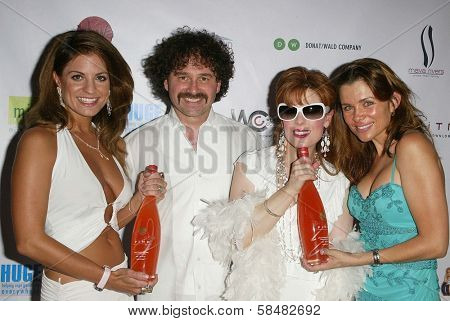 SANTA MONICA - JULY 23: Bridgetta Tomarchio, Kat Kramer, Alicia Arden at the Sexy Summer Soire Party by H.U.G.E benefiting Heal The Bay at AKWA Restaurant on July 23, 2006 in Santa Monica, CA.