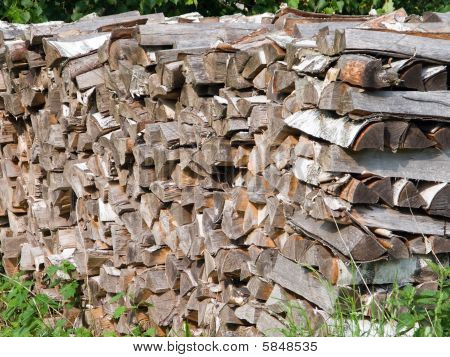 Stack Of Wood Log