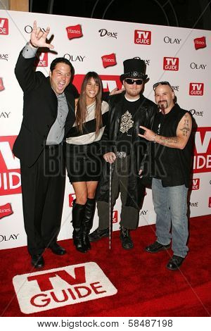 HOLLYWOOD - AUGUST 27: Greg Grunberg, Missy Peregrym, Ben Moody and Michael Fish Herring at the TV Guide Emmy After Party August 27, 2006 in Social, Hollywood, CA.