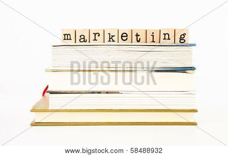 Marketing Wording Stack On Books