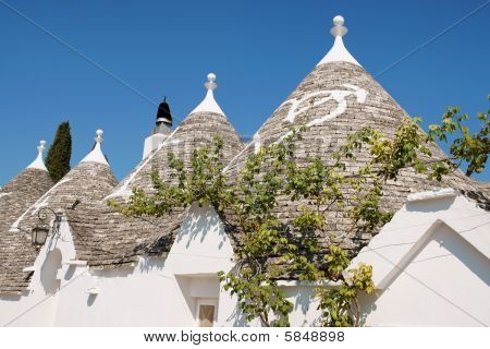 Trulli Of Alberobello In Apulia