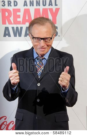 Larry King at the 3rd Annual Streamy Awards, Hollywood Palladium, Hollywood, CA 02-17-13
