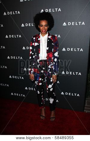 Solange Knowles at Delta Airline's Celebration of LA's Music Industry, Getty House, Los Angeles, CA 02-07-13