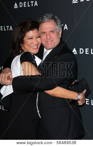 Julie Chen, Les Moonves at Delta Airline's Celebration of LA's Music Industry, Getty House, Los Angeles, CA 02-07-13