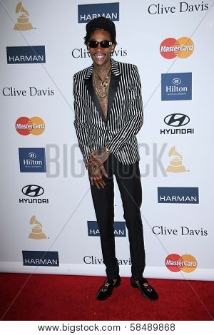 Wiz Khalifa at the 2013 Clive Davis And Recording Academy Pre-Grammy Gala, Beverly Hilton Hotel, Beverly Hills, CA 02-09-13