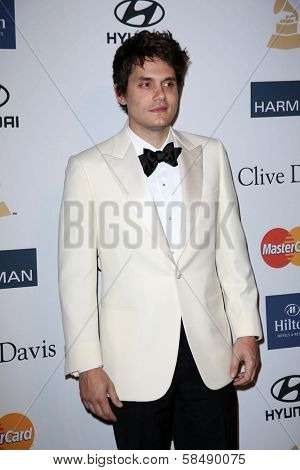 John Mayer at the 2013 Clive Davis And Recording Academy Pre-Grammy Gala, Beverly Hilton Hotel, Beverly Hills, CA 02-09-13