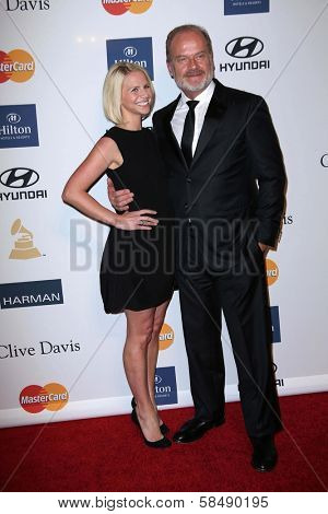 Kelsey Grammer, Kayte Walsh at the 2013 Clive Davis And Recording Academy Pre-Grammy Gala, Beverly Hilton Hotel, Beverly Hills, CA 02-09-13
